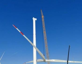 150MW,大唐国际内蒙古镶黄旗<em>风电</em>工程全部风机吊装完成