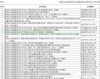 国家能源局综合司关于废止原国家<em>电力</em>监管委员会部分规范性文件征求意见的公告