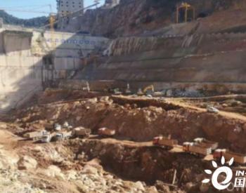 老挝南屯1水电站消力池开挖进入施工高峰