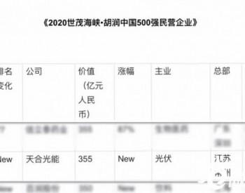天合光能入选胡润中国500强民营企业