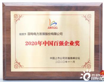 国电电力荣膺中国上市公司两项百强奖