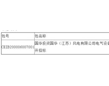 中标丨国华投资国华(江苏)风电有限公司电气设备防雷检测项目公开招标中标结果公告
