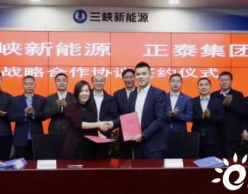 <em>正泰集团</em>与三峡新能源签署战略合作协议