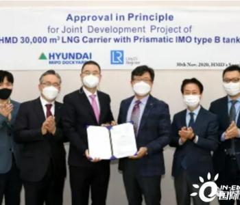 LNG:现代集团3万立方米<em>LNG运输船</em>获AiP大奖
