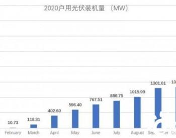 今年1~11月<em>户用光伏</em>累计装机超过10GW,创历史新高