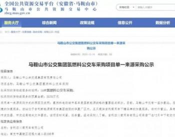 中标丨亿华通斩获安徽马鞍山14辆公交燃料电池系统订单