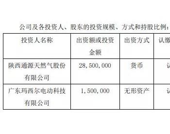 陕通股份设立子公司发力氢能