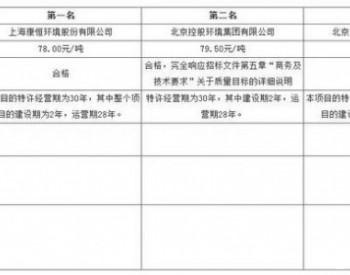 中标 | 湖北宜昌市<em>生活垃圾焚烧发电</em>特许经营项目中标候选人公示