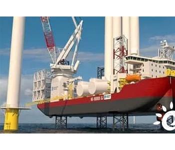 耗资5亿美元!全球已建、在建最大风机安装船开建