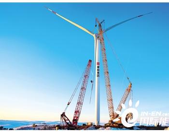 内蒙古苏尼特左旗巴彦杭盖300MW风电项目首台风机并网成功!