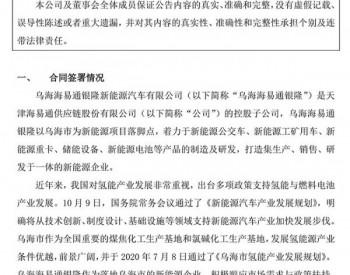 海易通获内蒙古乌海1.15亿元<em>氢能源公交</em>订单