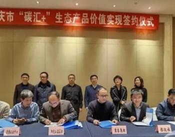 """让绿水青山变现!重庆市首批""""碳汇+""""生态产品签约"""