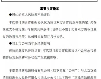 签约!京能将收购3家风电光伏公司!