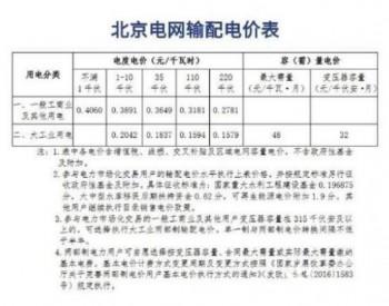北京电价明年将进行下调