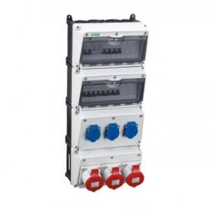 国皖科技工业塑料插座箱 PC斜坡插座箱 移动式插座箱批发