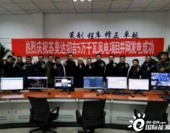 中国电建青海<em>苏美达</em>切吉50兆瓦风电项目成功并网