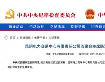 昆明电力交易中心监事会主席陈军主动投案