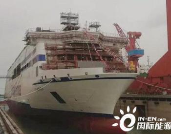 威海金陵首艘<em>LNG动力</em>高端客滚船下水