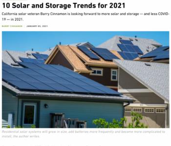 领跑能源转型:美国加州2021年<em>光伏</em>和储能应用的10个趋势