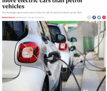挪威成为世界上首个电动车销量超过<em>燃油车</em>的国家