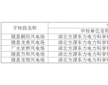 中标丨华润电力投资有限公司华中分公司湖北随州区域风电项目并网性能试验中标结果公告