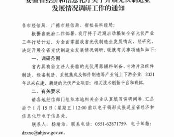 安徽芜湖发布关于报送<em>光伏制造业</em>发展情况的通知