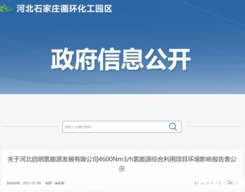 河北省石家庄循环化工园区公开启明氢能源高纯氢气站项目<em>环境影响</em>报告表