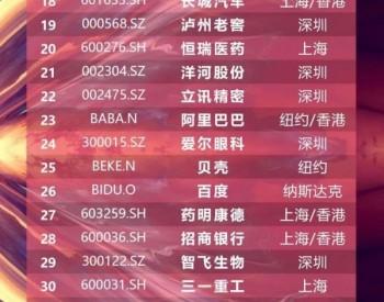 中国公司市值增长50强:隆基、通威、宁德时代、蔚来等7家新能源企业上榜!