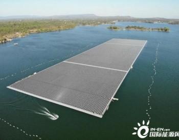 58.5MW!泰国EGAT诗琳通大坝综合浮体光伏项目首个方阵安装完成