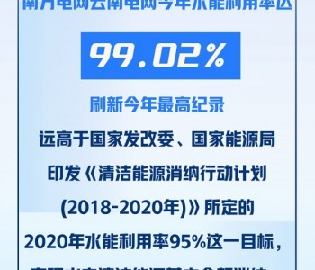 云南电网水电基本全额消纳99.02%