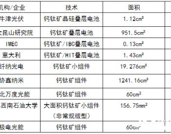 12cm²,20%!大面积全钙钛矿叠层电池破记录