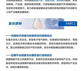 一图读懂《安徽省智能汽车创新发展战略实施方案》