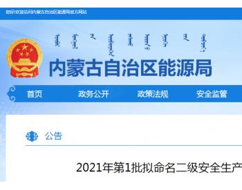 首批!内蒙古公示22处二级安全生产<em>标准</em>化煤矿名单!