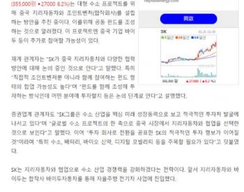 韩国SK集团与吉利洽谈<em>氢能业务</em>合作
