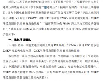 中标丨<em>亨通</em>光电中标3.45亿元海上风电电缆订单!
