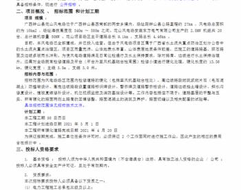 招标丨中广核<em>广西</em>花山风电场道路硬化工程(重新招标)