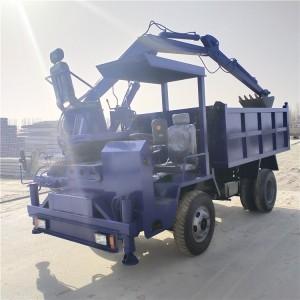 8吨四不像随车挖 四驱四不像带钩机自卸车 车载式挖掘机可定制