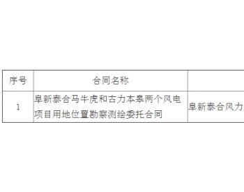 中标丨辽宁阜蒙怒河土49.5MW风力发电项目编制规划选址论证报告、规划控制图与建设用地界纸中标候选人公示