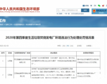 陕西榆林绿能新能源有限公司焚烧厂炉温不达标被处罚8万元