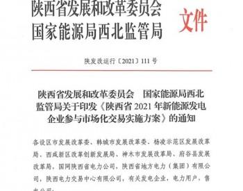 陕西新能源电力交易新政出台 光伏、风电收益迎来巨大不确定性