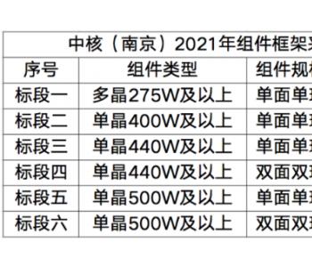<em>中核</em>又双叒招标1.3GW光伏组件,2021集采规模已达7.6GW