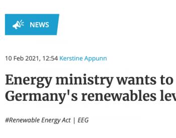 德国拟逐步取消电费中<em>可再生能源</em>附加费 在未来5年逐步放弃