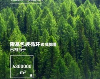 循环包装Action,减碳≈6300000m²森林碳吸收量