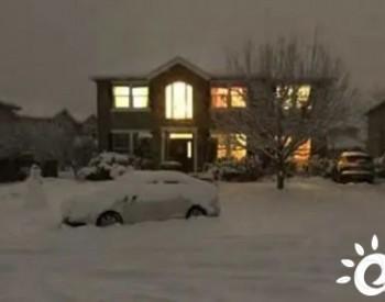光伏+储能,让家庭免于遭受严寒,被雪覆盖仍能发电