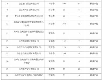 山東省2020年煤炭行業化解過剩產能情況公告