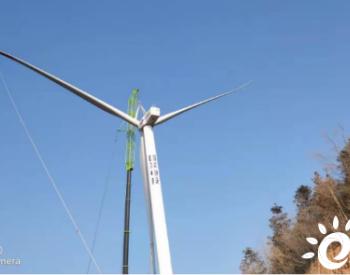 湖南通道风电项目全部风机吊装完成
