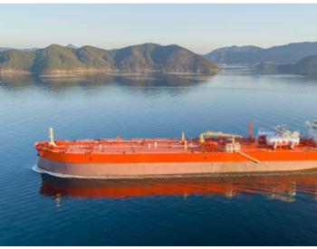 中集太平洋海工建造的全球最大LNG运输加注船在江苏南通下水
