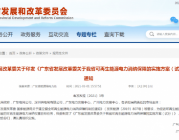 风电、光伏全额消纳!广东省发布可再生能源电力消纳保障实施方案