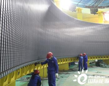 白鹤滩水电站5号机组定子铁心磁化试验顺利通过