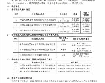 中标丨中广核广西乐业扶贫风电项目二期(逻沙区域54MW)工程勘察设计中标候选人公示